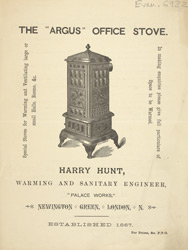The Argus office stove